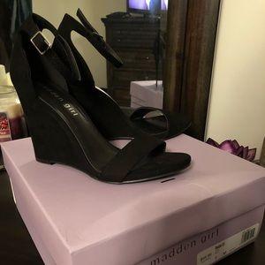 Black Wedge Heels | Poshmark